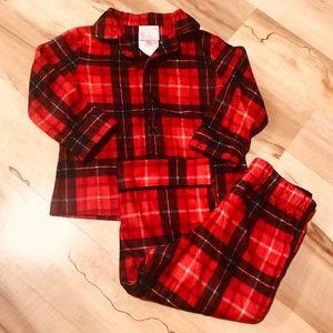 18 Month 2-Piece plaid pajamas